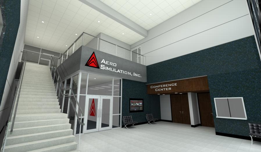 Office Building Lobby rendering